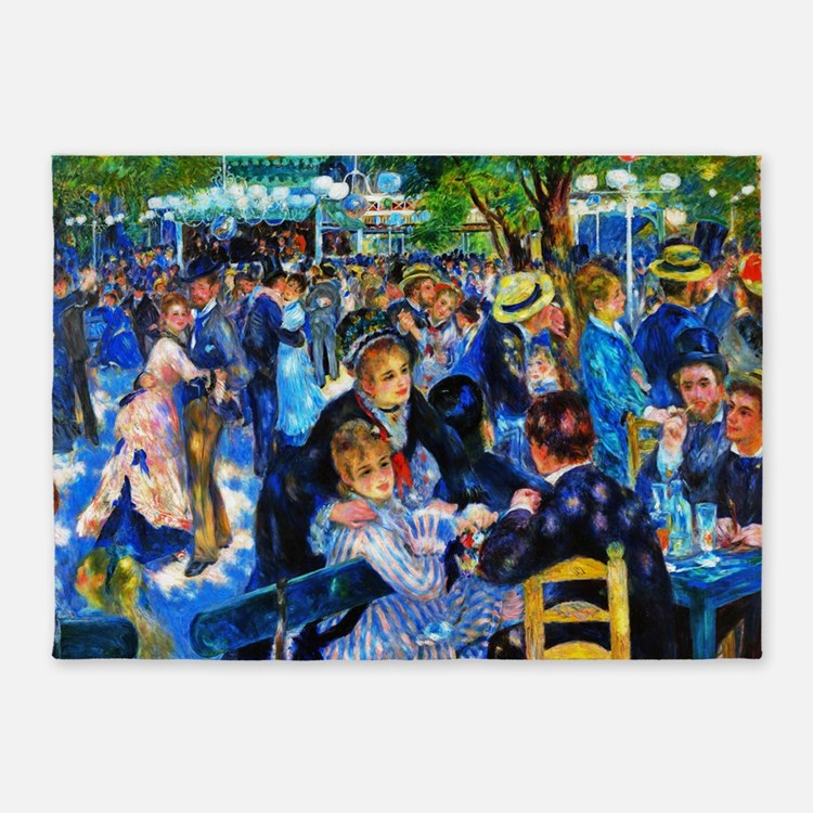 Renoir: Dance at Moulin d.l. Galette 5'x7'Area Rug