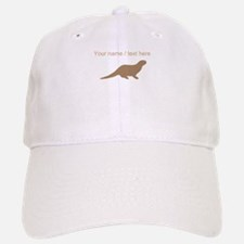 Personalized Brown Otter Silhouette Baseball Baseball Baseball Cap