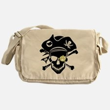 Black Captain Messenger Bag