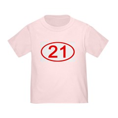 Number 21 Oval T
