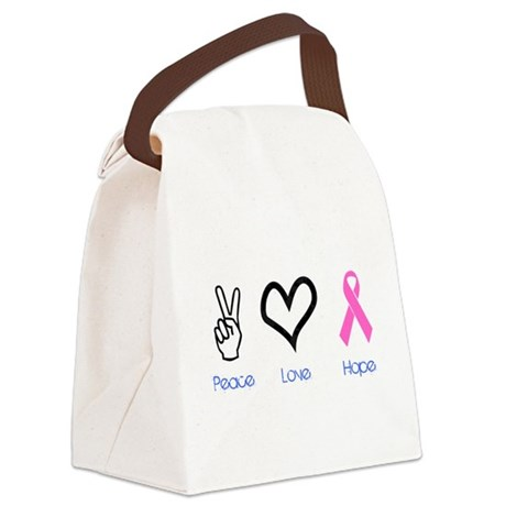 2-PeaceLove.png Canvas Lunch Bag