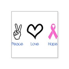 "2-PeaceLove.png Square Sticker 3"" x 3"""
