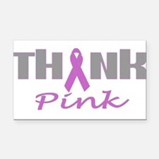 ThinkPink.png Rectangle Car Magnet