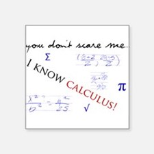 "Calculus.png Square Sticker 3"" x 3"""