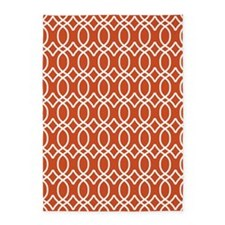 Pumpkin Orange Ogee Pattern 5'x7'Area Rug