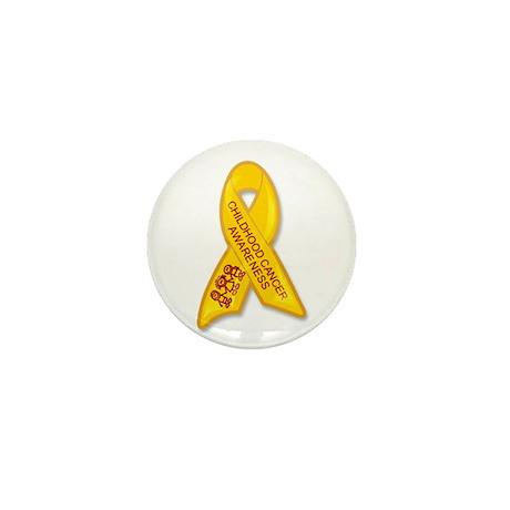 Childhood Cancer Ribbon Mini Button