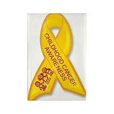 Childhood Cancer Ribbon Rectangle Magnet