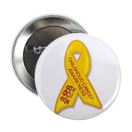Childhood Cancer Ribbon Button