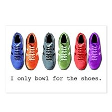 Bowling Shoes Postcards (Package of 8)