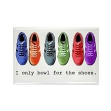 Bowling Shoes Rectangle Magnet