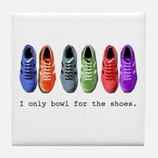 Bowling Shoes Tile Coaster