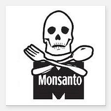 "Monsanto Square Car Magnet 3"" x 3"""