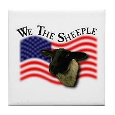We the Sheeple Tile Coaster
