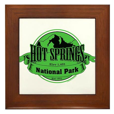 hot springs 3 Framed Tile