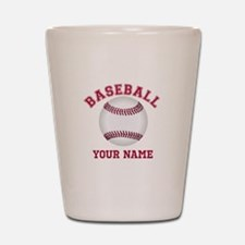 Personalized Name Baseball Shot Glass