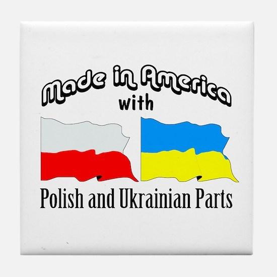 Polish-Ukrainian Tile Coaster