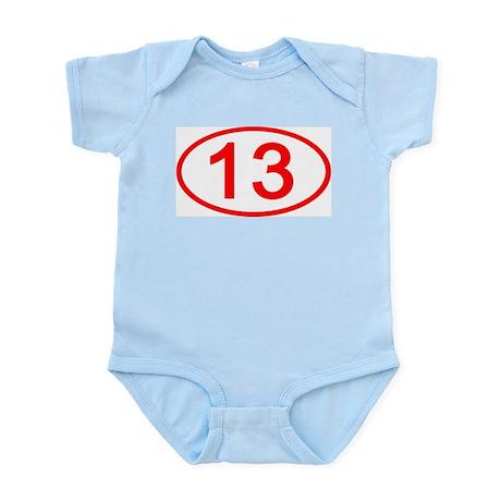 Number 13 Oval Infant Bodysuit
