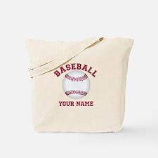 Personalized Name Baseball Tote Bag