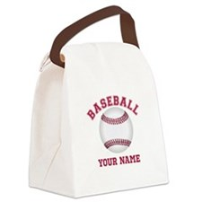 Personalized Name Baseball Canvas Lunch Bag