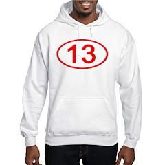 Number 13 Oval Hoodie