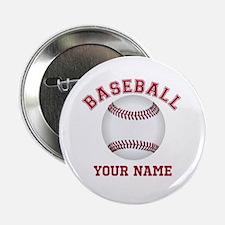 "Personalized Name Baseball 2.25"" Button"