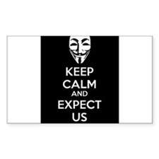 Keep Calm and Expect Us Decal