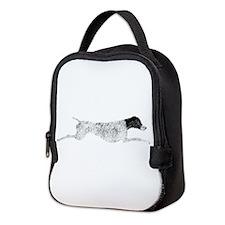 Black & White Leaping GSP Neoprene Lunch Bag