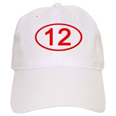Number 12 Oval Baseball Cap