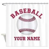 Baseball personalized Shower Curtains