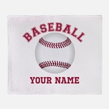 Personalized Name Baseball Throw Blanket