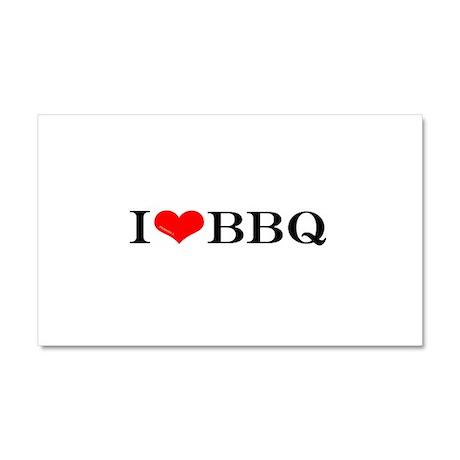 I love BBQ Car Magnet 20 x 12