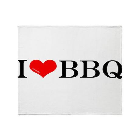 I love BBQ Throw Blanket