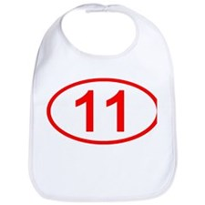 Number 11 Oval Bib