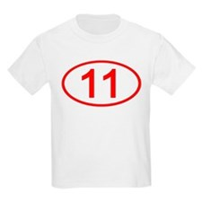 Number 11 Oval Kids T-Shirt