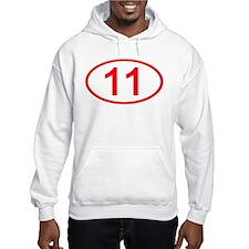 Number 11 Oval Hoodie