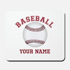 Personalized Name Baseball Mousepad