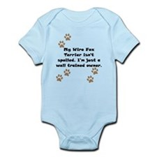 Well Trained Wire Fox Terrier Owner Body Suit