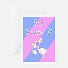 It's Twins! (B/G) Greeting Card