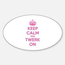 Keep calm and twerk on Decal