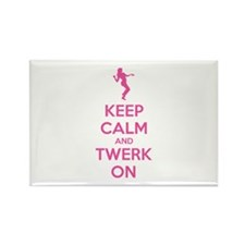 Keep calm and twerk on Rectangle Magnet