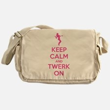 Keep calm and twerk on Messenger Bag