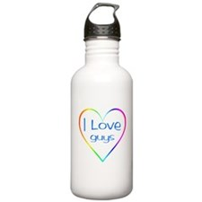 Rainbow Heart Water Bottle