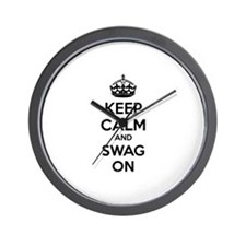 Keep calm and swag on Wall Clock