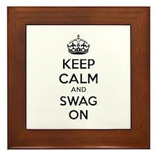 Keep calm and swag on Framed Tile
