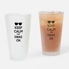 Keep calm and swag on Drinking Glass
