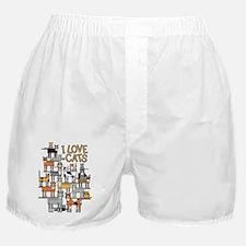 I LOVE CATS Boxer Shorts