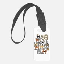 I LOVE CATS Luggage Tag