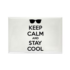 Keep calm and stay cool Rectangle Magnet