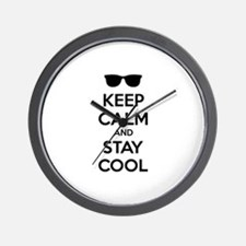 Keep calm and stay cool Wall Clock
