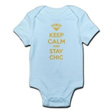 Keep calm and stay chic Infant Bodysuit